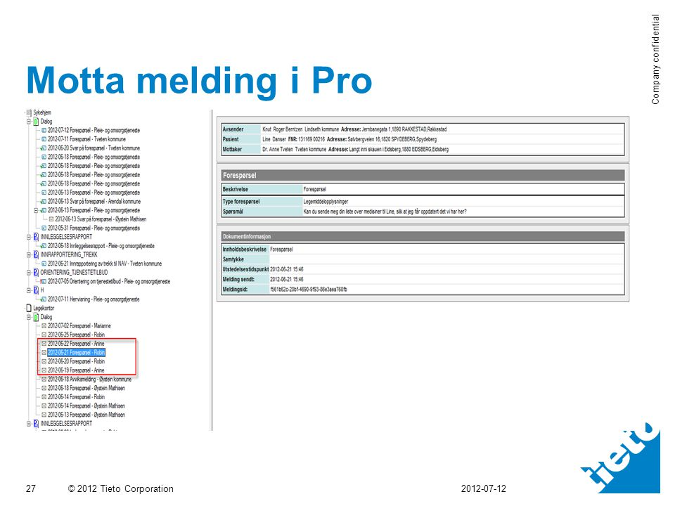 Motta melding i Pro 2012-07-12