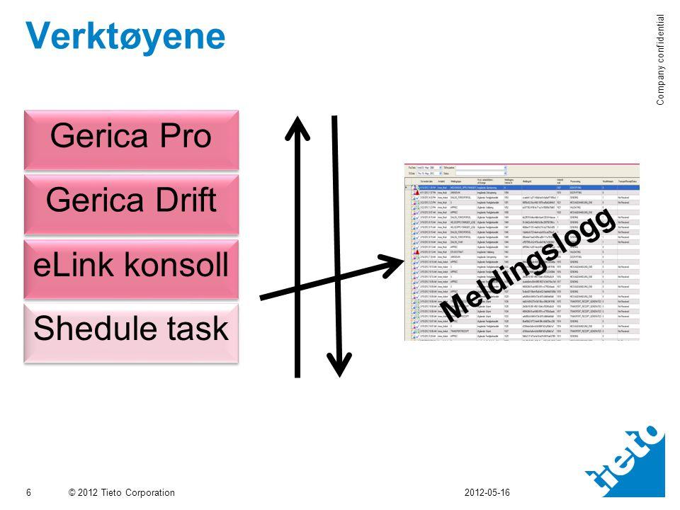 Verktøyene Gerica Pro Gerica Drift eLink konsoll Shedule task