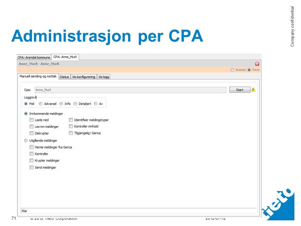Administrasjon per CPA