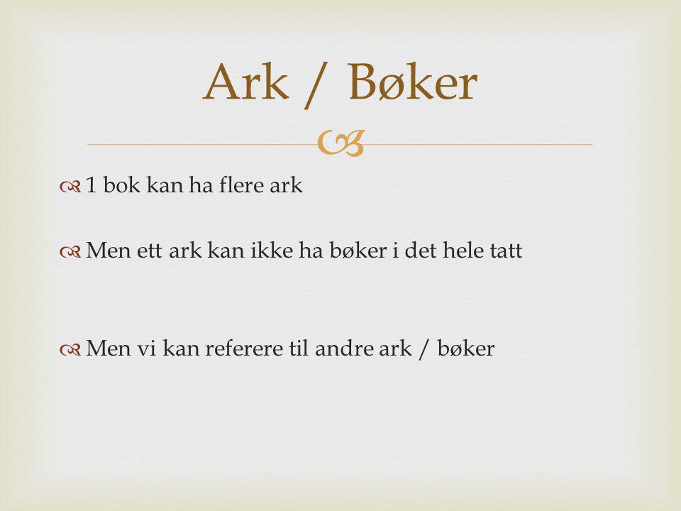 Ark / Bøker 1 bok kan ha flere ark