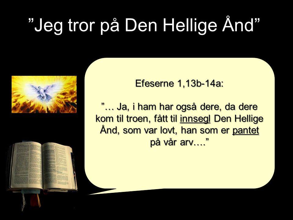 Jeg tror på Den Hellige Ånd
