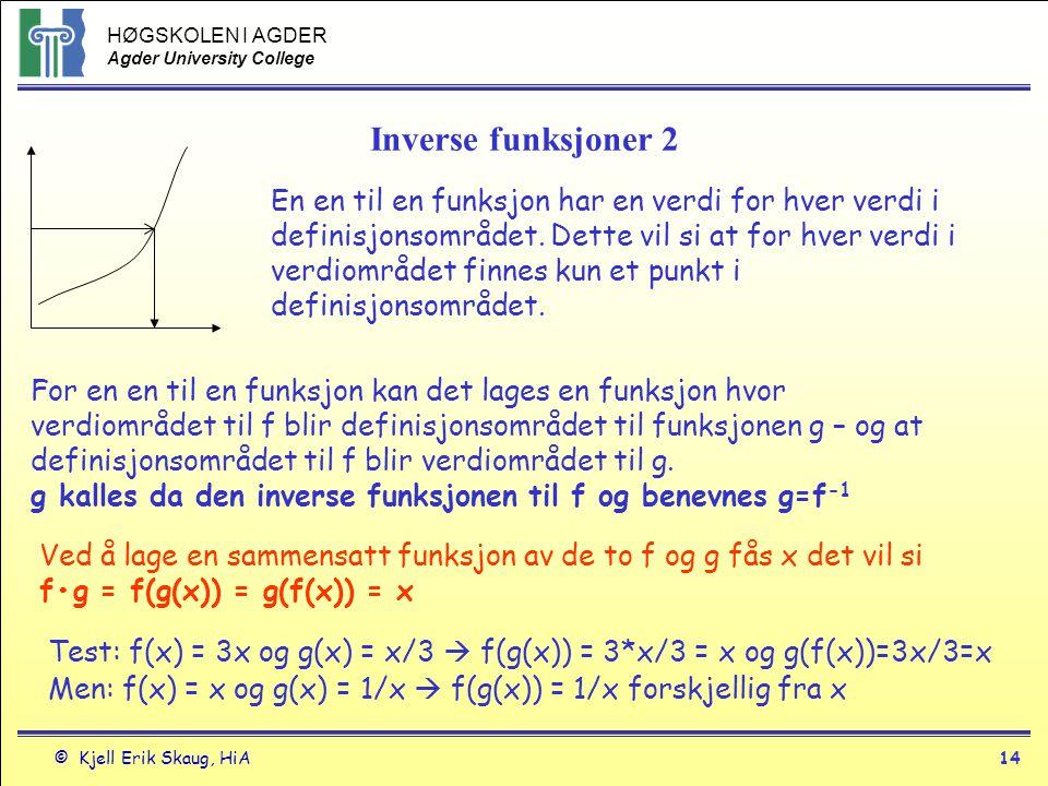 Inverse funksjoner 2