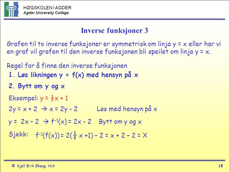Inverse funksjoner 3
