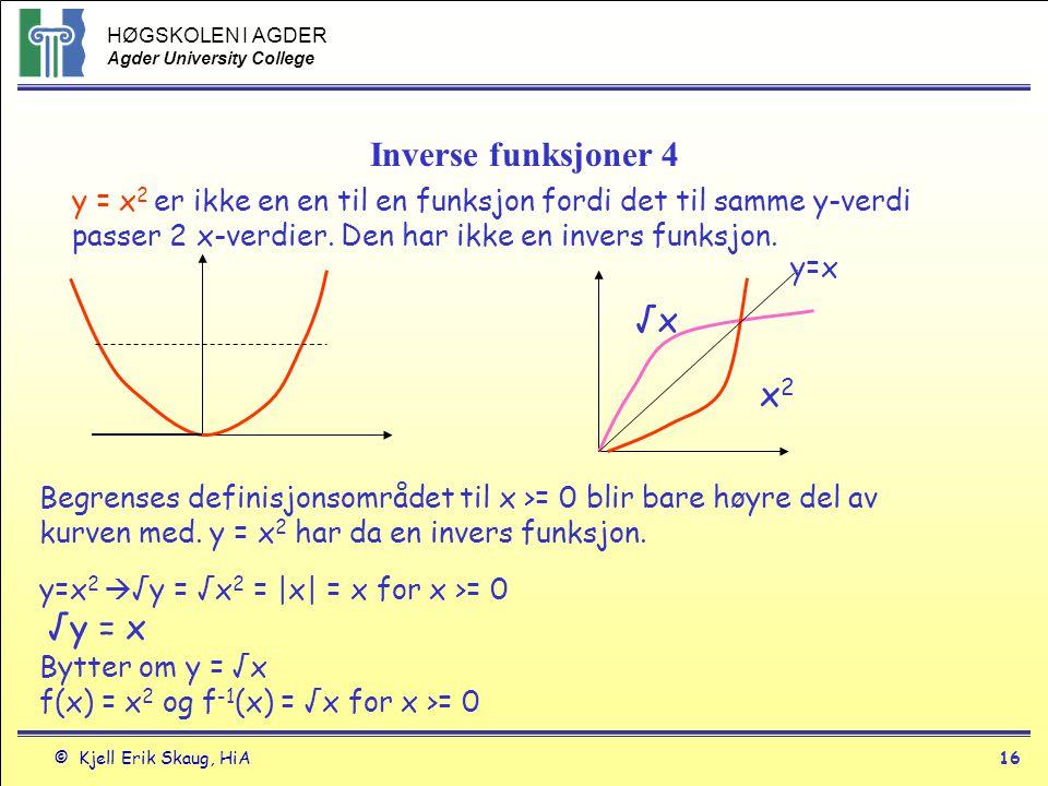 Inverse funksjoner 4 √x x2
