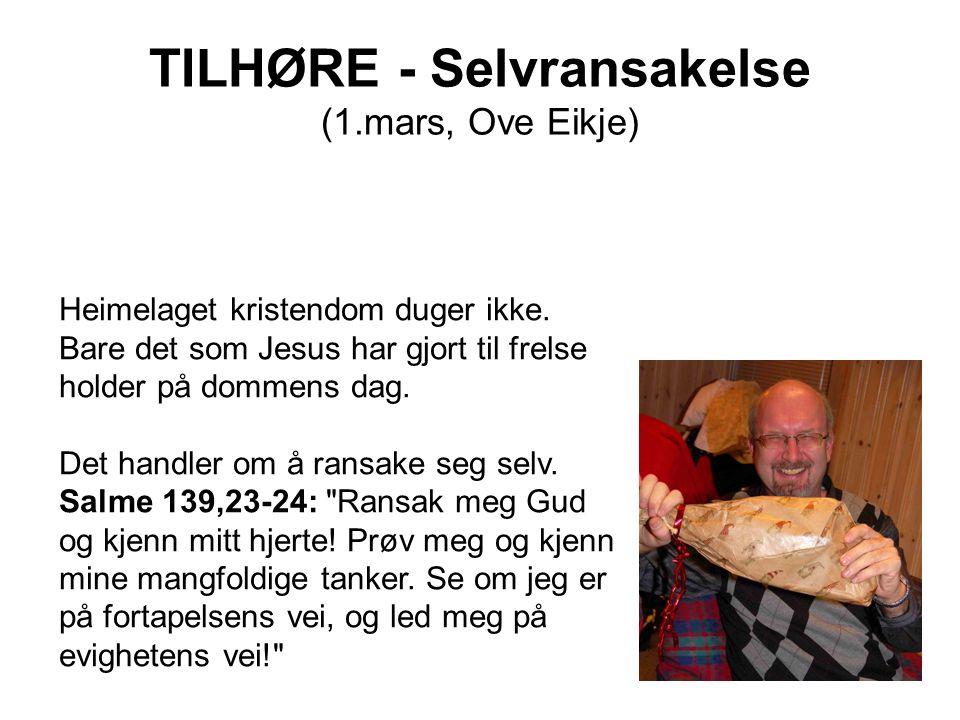 TILHØRE - Selvransakelse (1.mars, Ove Eikje)