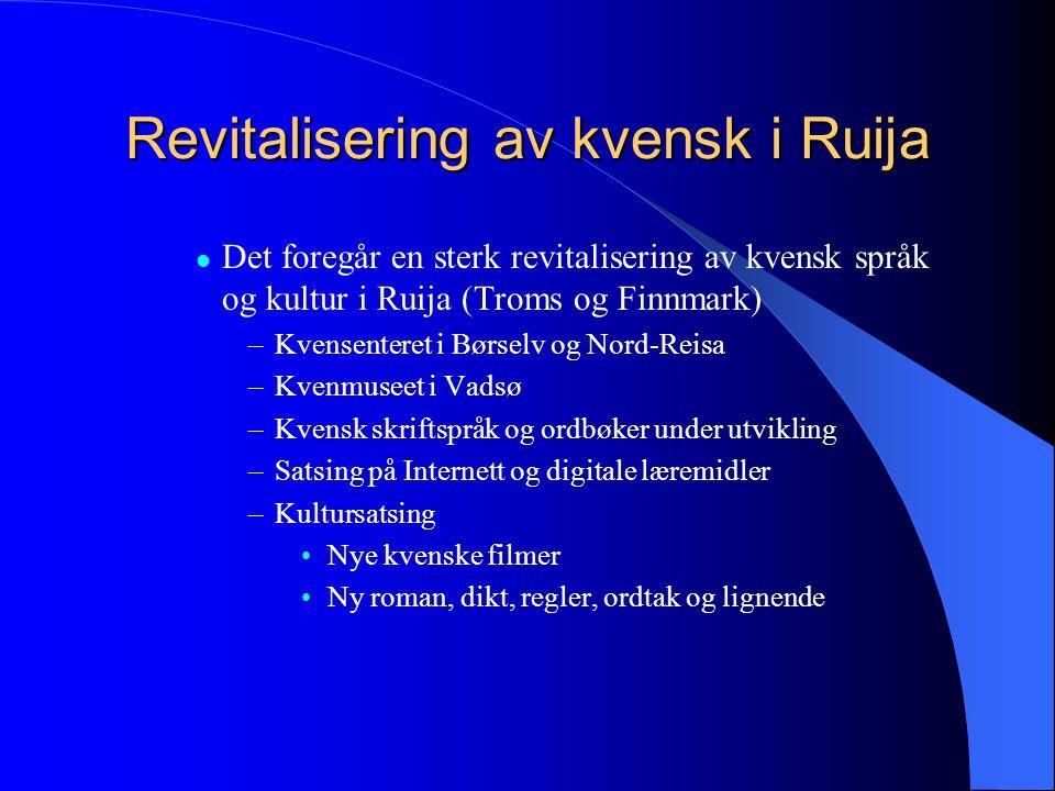 Revitalisering av kvensk i Ruija