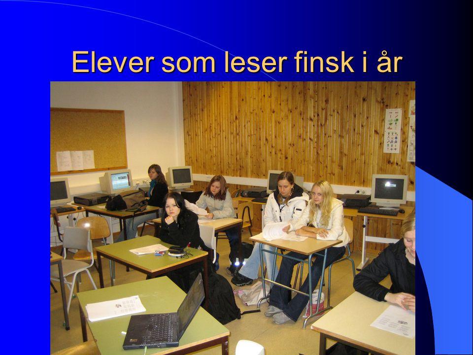 Elever som leser finsk i år