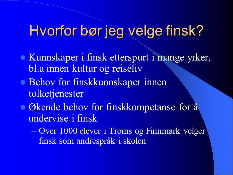 Hvorfor bør jeg velge finsk
