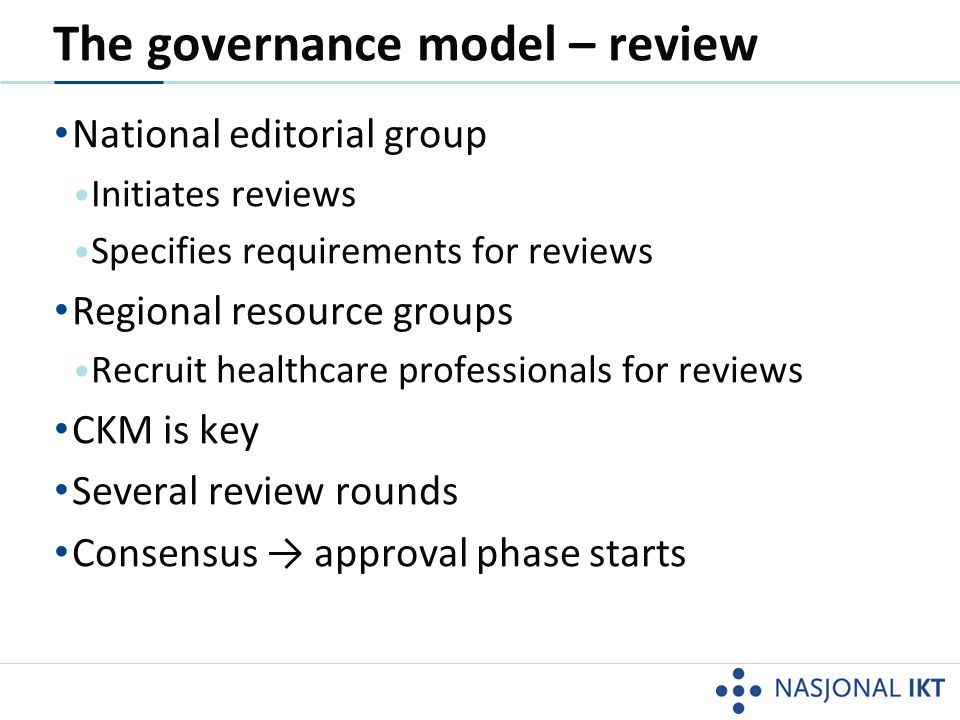 The governance model – review