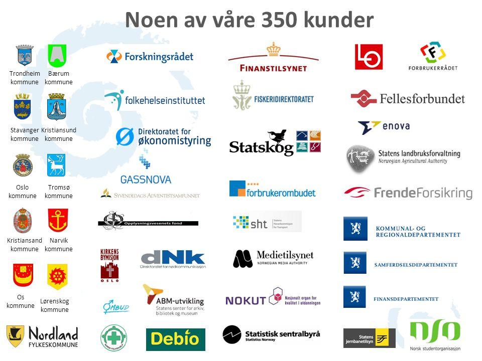 Noen av våre 350 kunder Trondheim kommune Bærum kommune