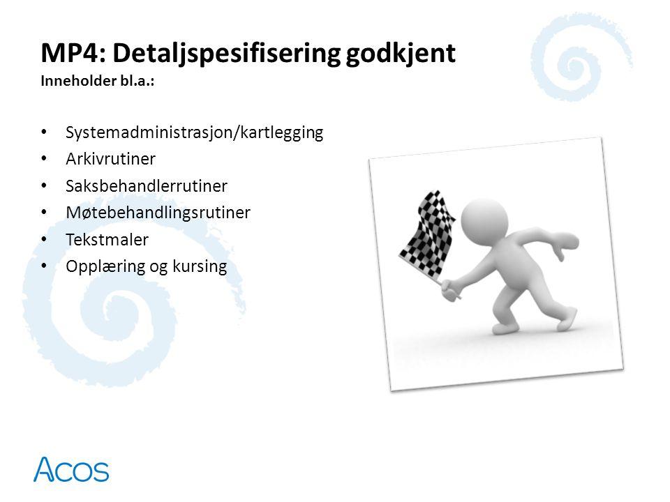 MP4: Detaljspesifisering godkjent