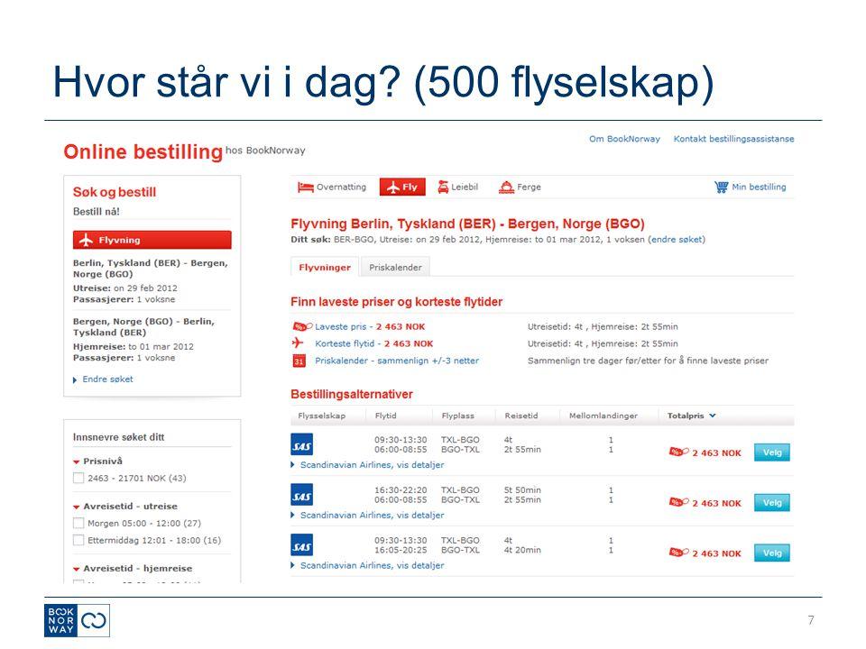 Hvor står vi i dag (500 flyselskap)