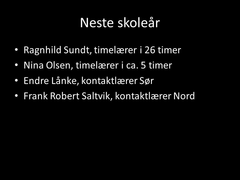 Neste skoleår Ragnhild Sundt, timelærer i 26 timer