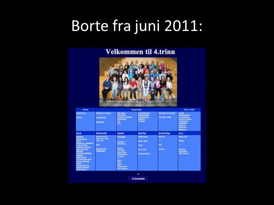 Borte fra juni 2011: