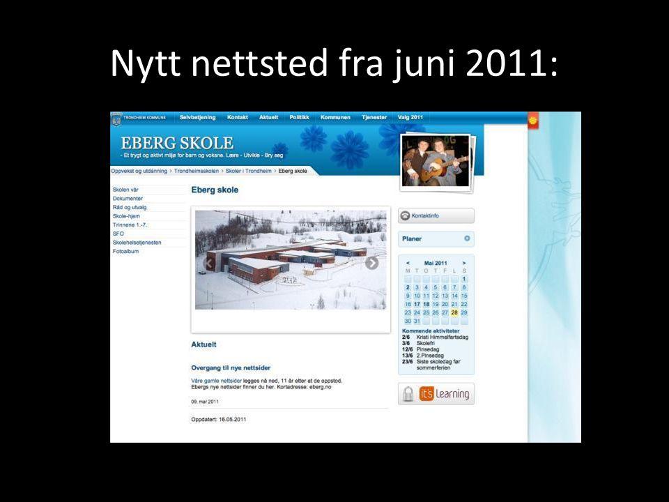 Nytt nettsted fra juni 2011: