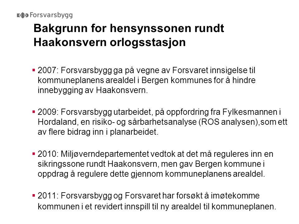 Bakgrunn for hensynssonen rundt Haakonsvern orlogsstasjon