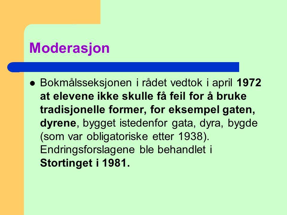 Moderasjon