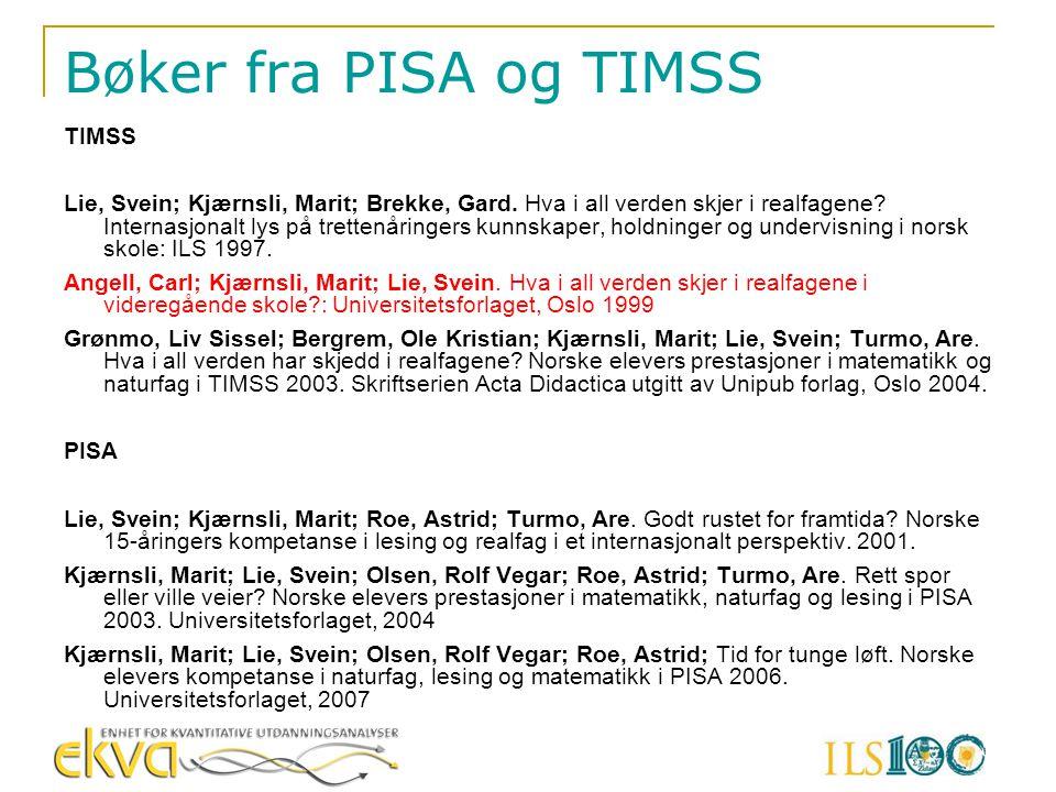 Bøker fra PISA og TIMSS TIMSS