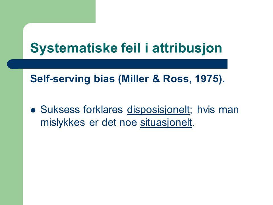Systematiske feil i attribusjon