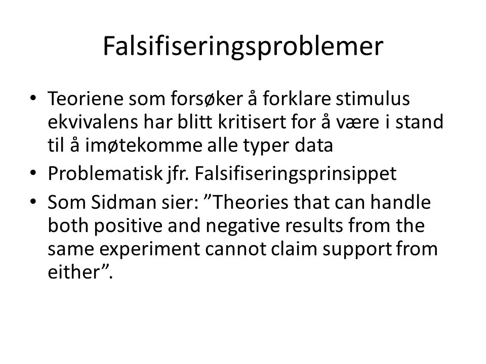 Falsifiseringsproblemer