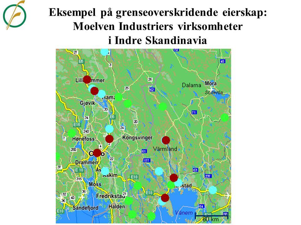Eksempel på grenseoverskridende eierskap: Moelven Industriers virksomheter i Indre Skandinavia