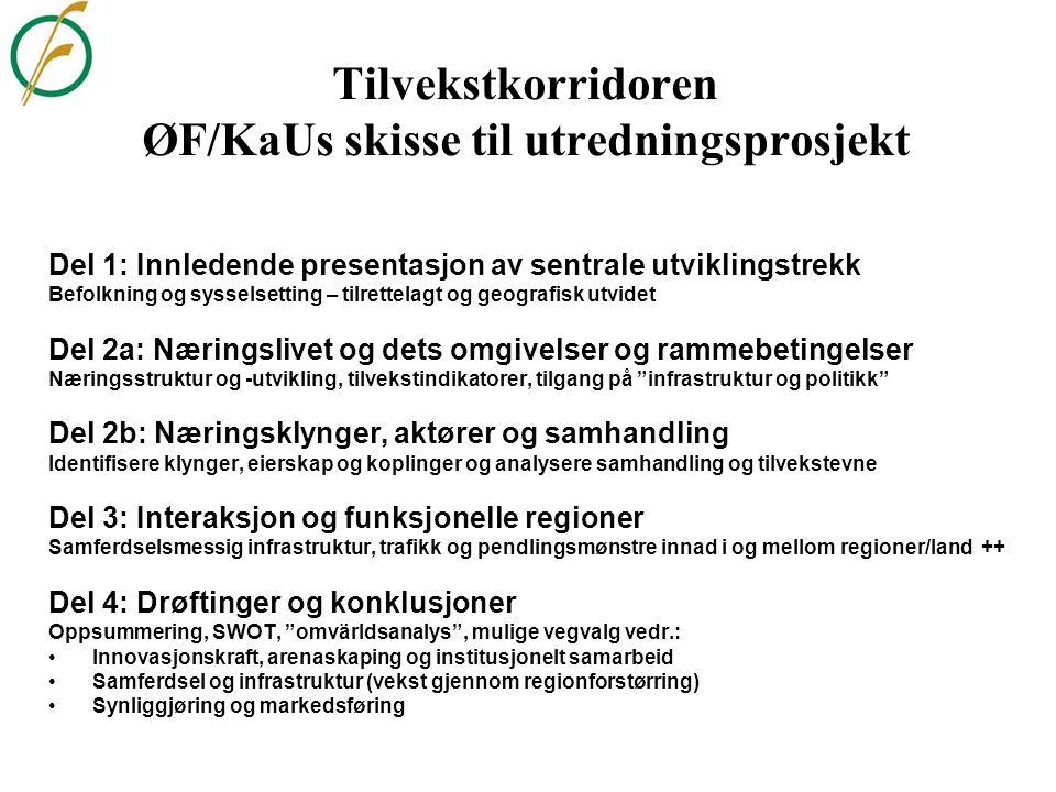 Tilvekstkorridoren ØF/KaUs skisse til utredningsprosjekt
