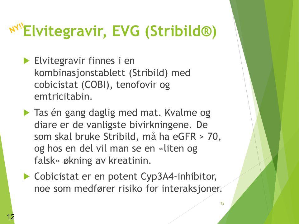 Elvitegravir, EVG (Stribild®)