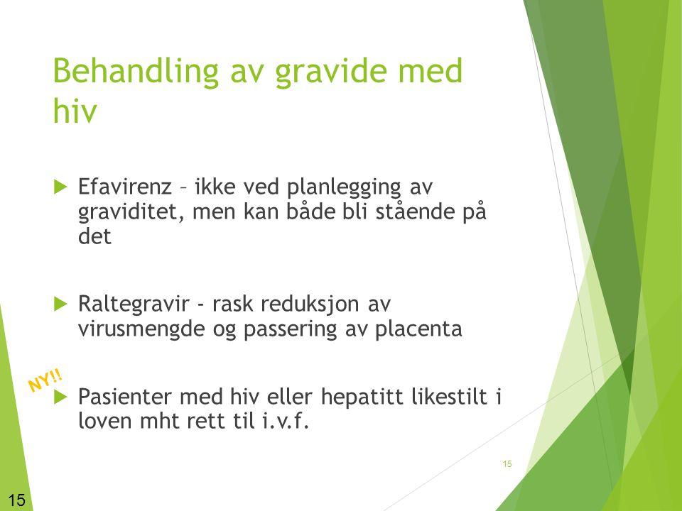 Behandling av gravide med hiv