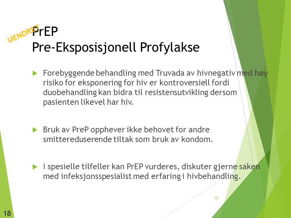 PrEP Pre-Eksposisjonell Profylakse