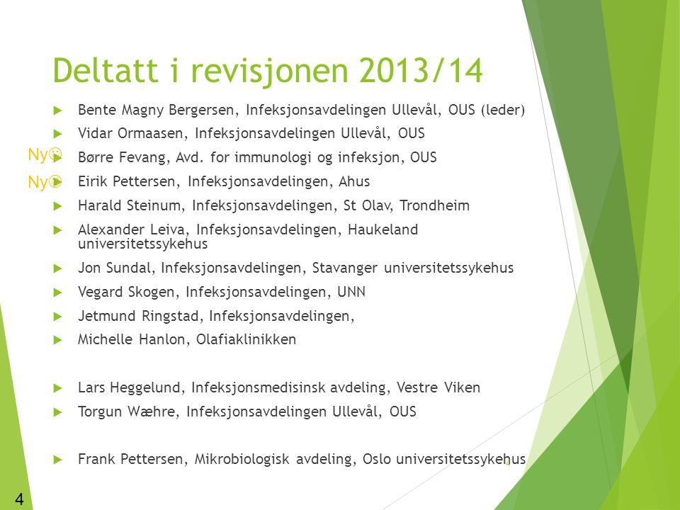 Deltatt i revisjonen 2013/14 Ny Ny 4