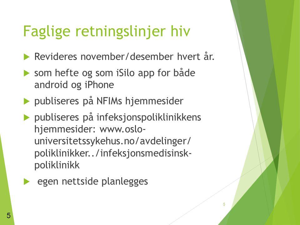 Faglige retningslinjer hiv