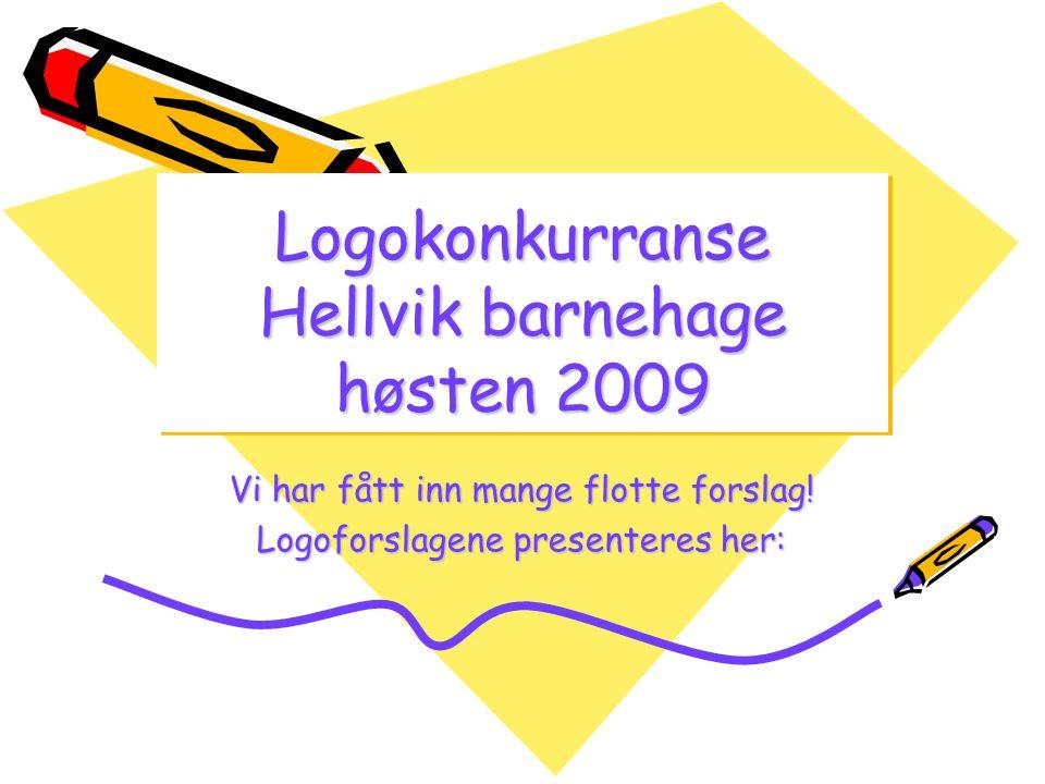 Logokonkurranse Hellvik barnehage høsten 2009