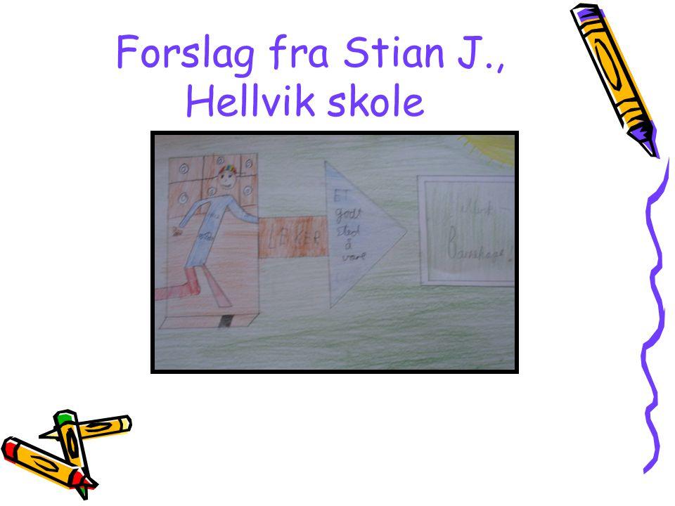 Forslag fra Stian J., Hellvik skole