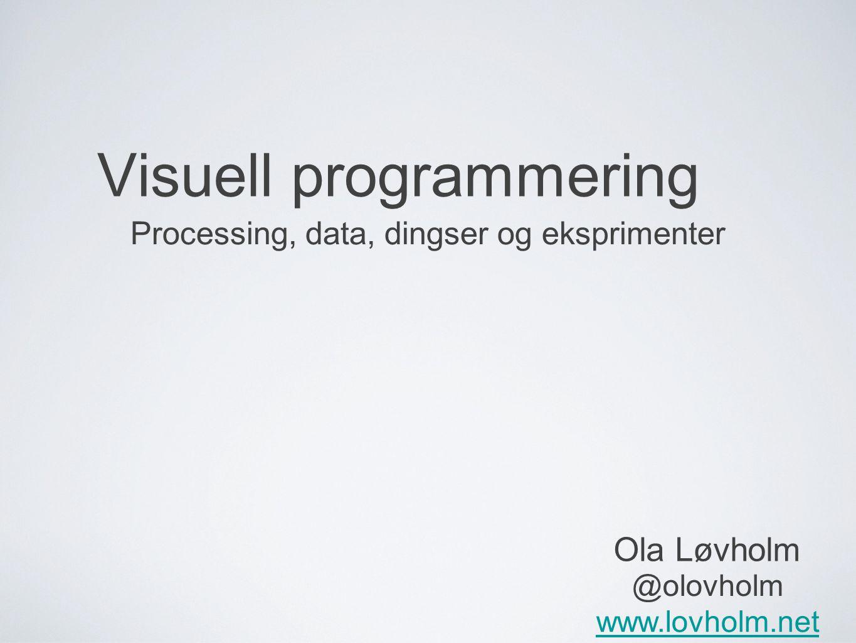 Visuell programmering