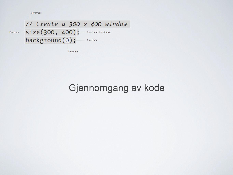 Gjennomgang av kode