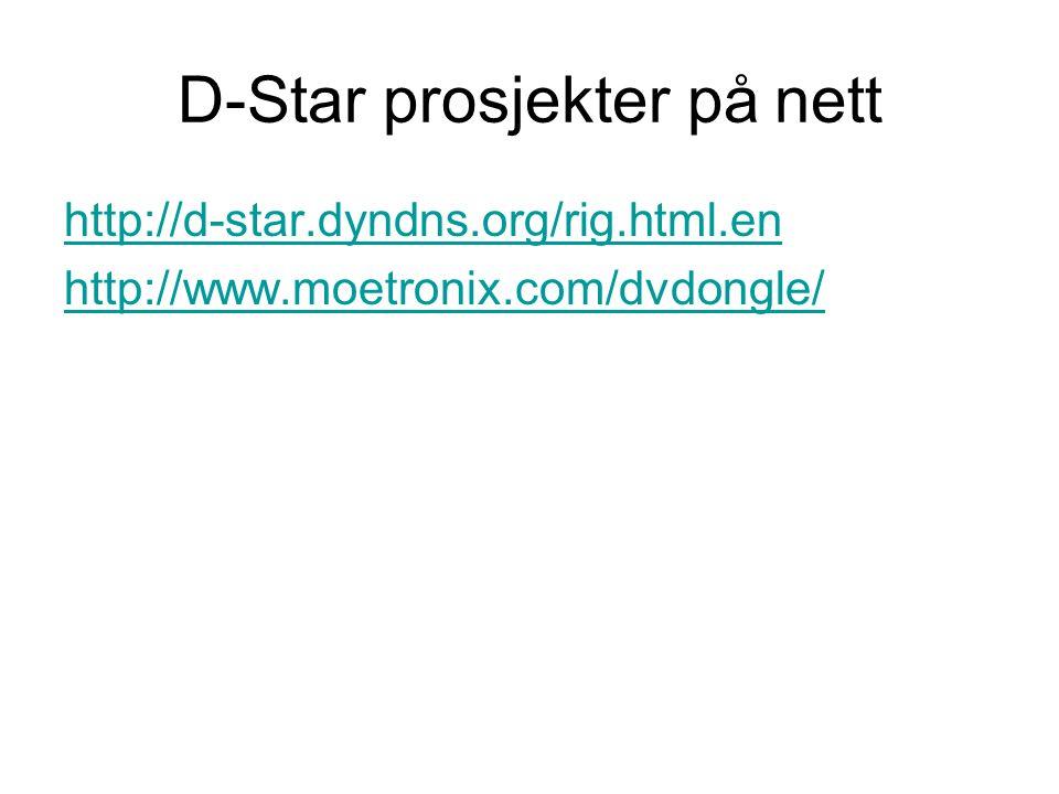 D-Star prosjekter på nett