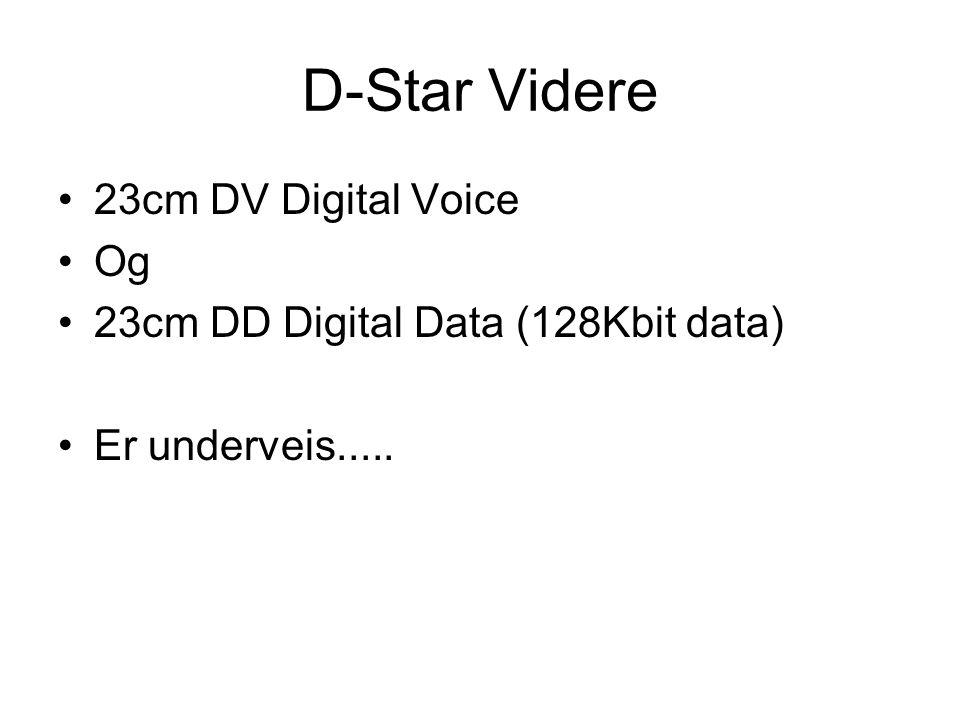 D-Star Videre 23cm DV Digital Voice Og