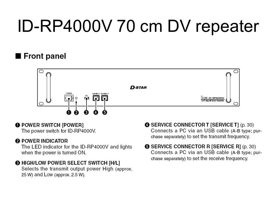 ID-RP4000V 70 cm DV repeater