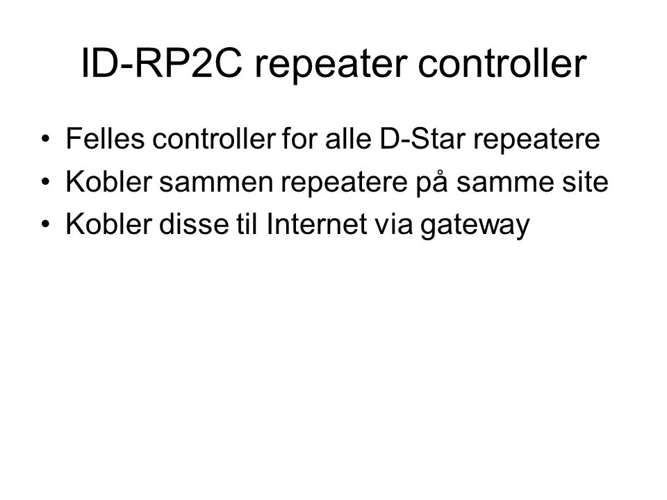 ID-RP2C repeater controller