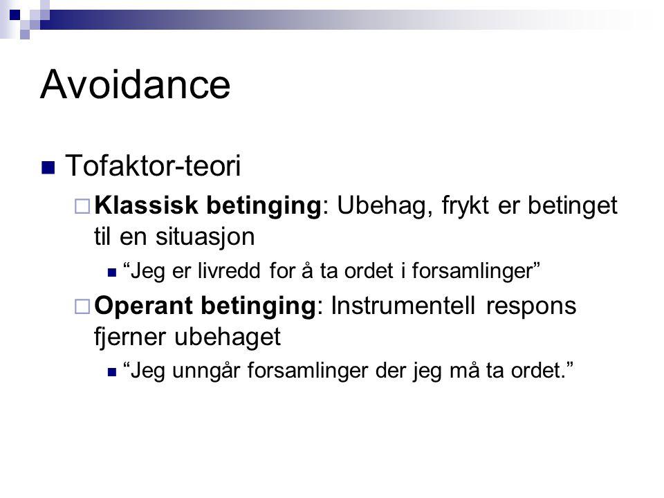 Avoidance Tofaktor-teori