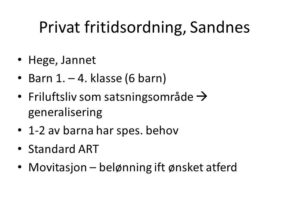 Privat fritidsordning, Sandnes