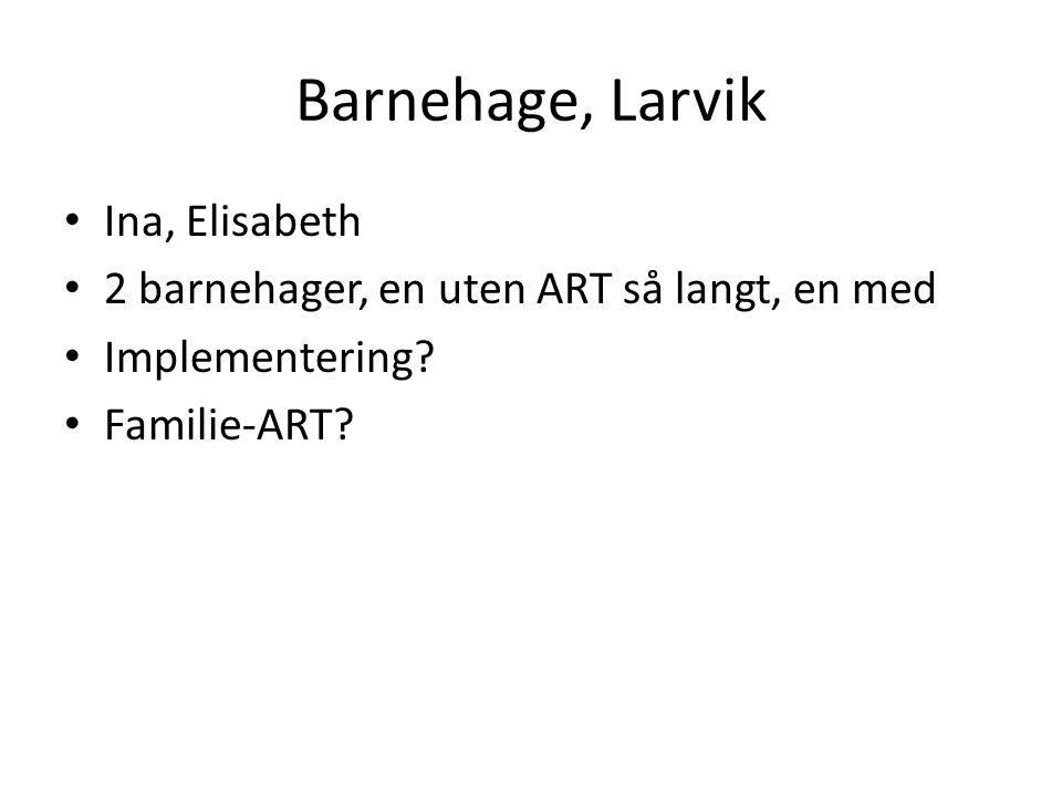 Barnehage, Larvik Ina, Elisabeth