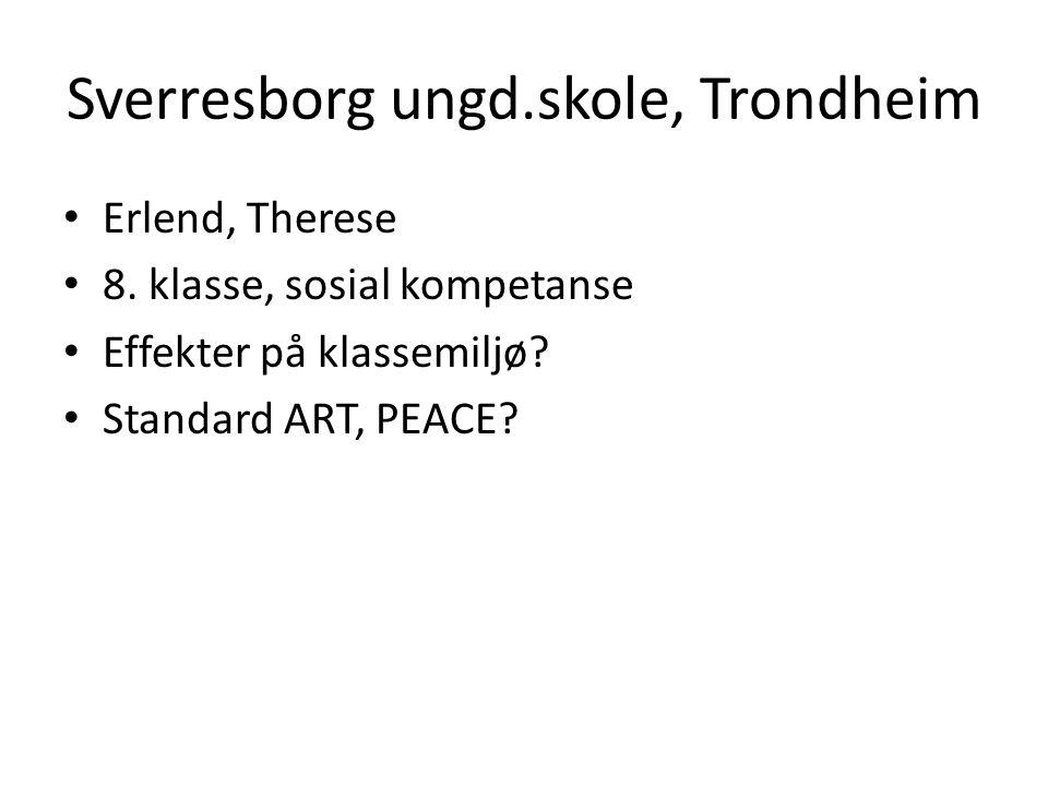 Sverresborg ungd.skole, Trondheim