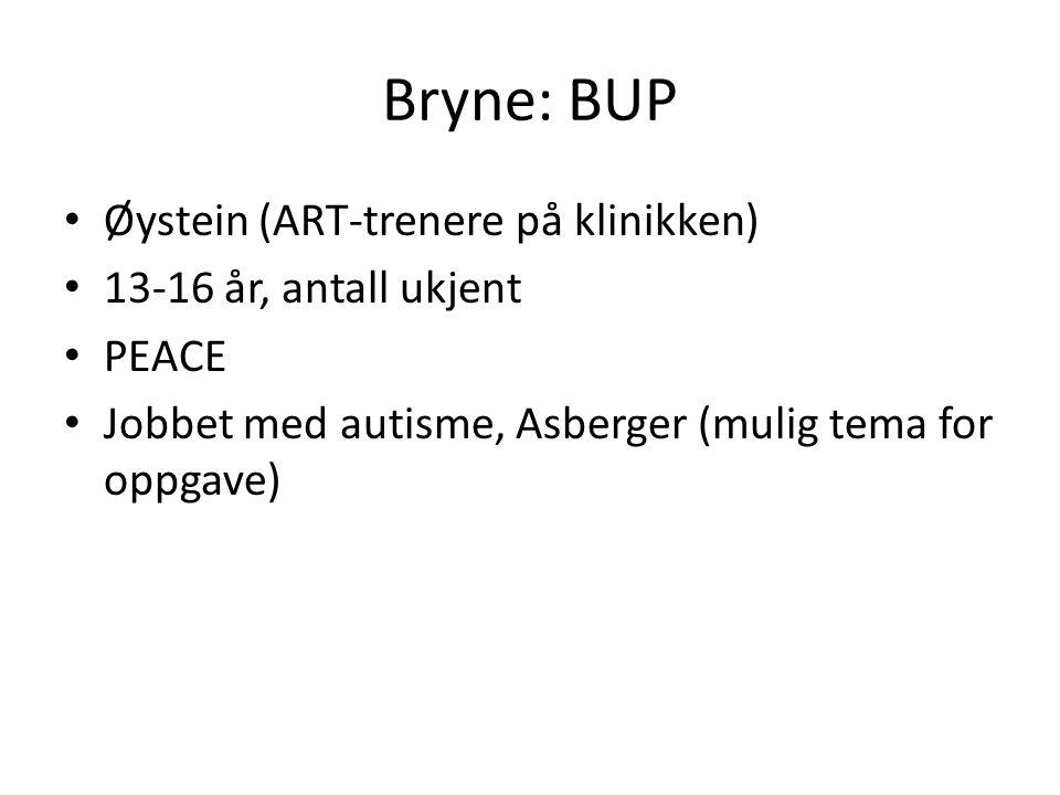 Bryne: BUP Øystein (ART-trenere på klinikken) 13-16 år, antall ukjent