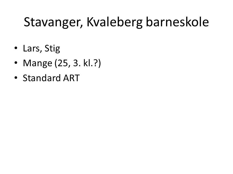 Stavanger, Kvaleberg barneskole