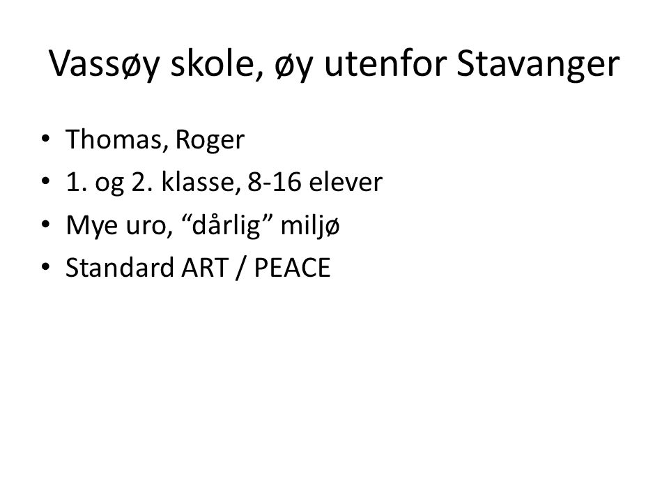 Vassøy skole, øy utenfor Stavanger