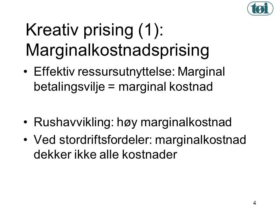 Kreativ prising (1): Marginalkostnadsprising