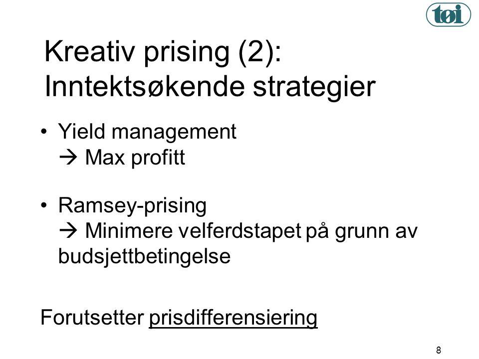 Kreativ prising (2): Inntektsøkende strategier