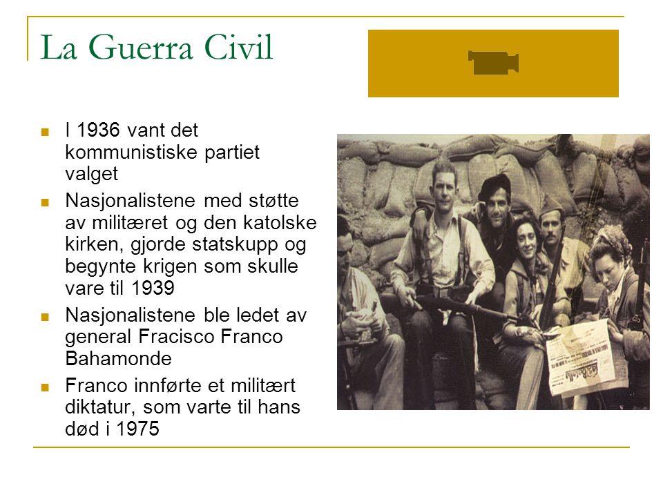 La Guerra Civil I 1936 vant det kommunistiske partiet valget