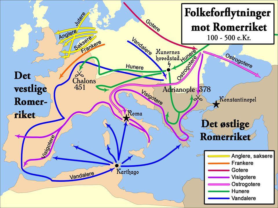 Folkevandringene I Vest-Europa kalles tiden mellom 400-600 for Folkevandringstiden